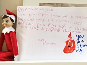 holiday elf letter
