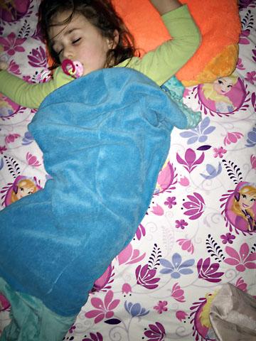 bday mermaid tail sleep
