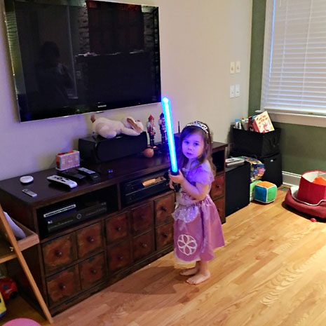 bday princess sofia lightsaber