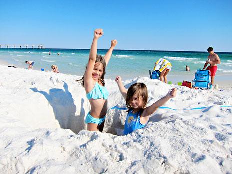 beach giant hole girls