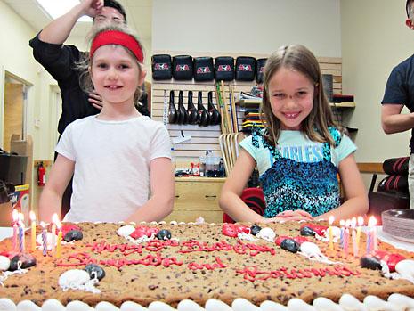 birthday karate cookie cake