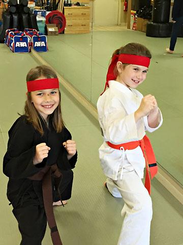 birthday karate pose with s
