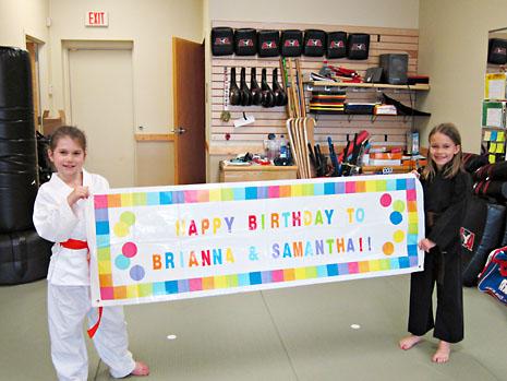 birthday karate sign