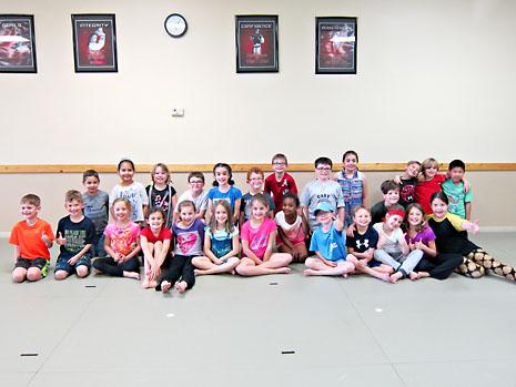 birthday karate smiling group