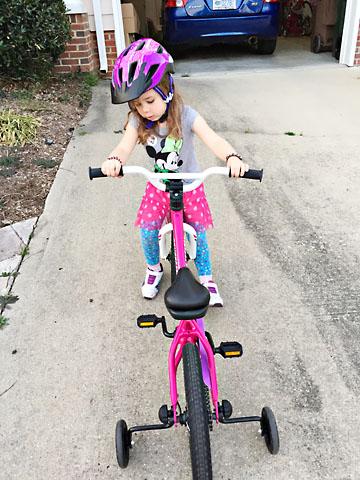 spring bike down driveway