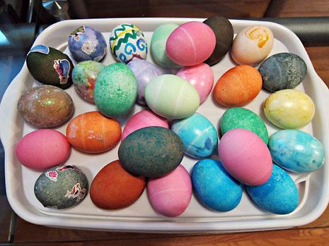 spring easter eggs