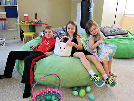 spring easter indoor egg hunt kids