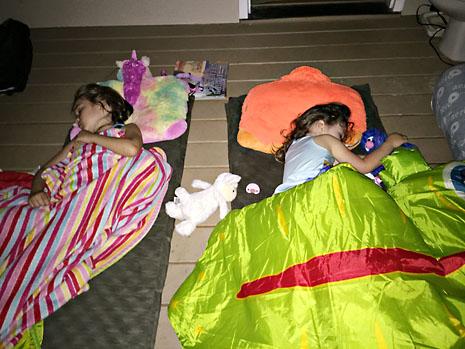 spring porch camp sleep